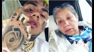 6ix9ine's Mom Is Speechless After Giving Her $100K In The Car