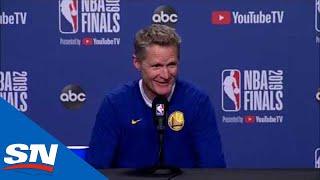 Steve Kerr Addresses Media Ahead Of Game 5 Of The NBA Finals