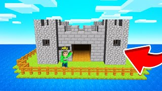 I Built A CASTLE On My SURVIVAL ISLAND! (Minecraft)