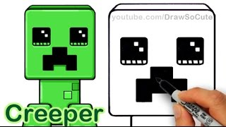 How to Draw a Minecraft Creeper Cute and Easy