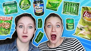 Trying Pickle Flavored Foods Taste Test! / Becca Beach
