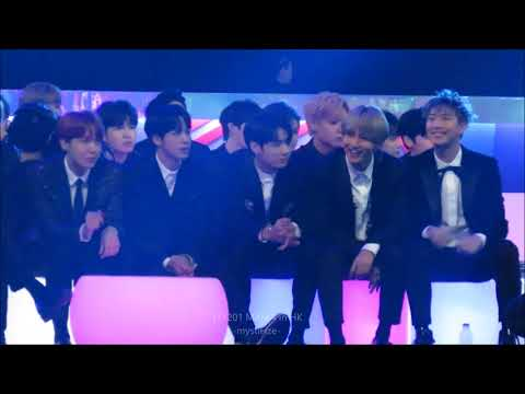 171201 MAMA in HK - BTS React to Taemin's Move