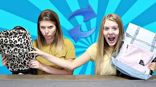 Back to School Switch Up Challenge | School Supplies Switch Up Challenge with Taylor & Vanessa