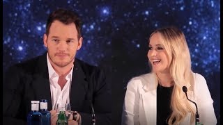 Chris Pratt Can't Stop Blushing Around Jennifer Lawrence