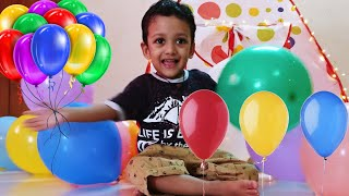 LEARN COLORS WITH BALLOONS   FUNNY KID PLAY WITH BALLOONS