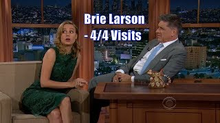 Brie Larson - Has A Fake Argument With Craig - 4/4 Appearances In Chron. Order [HD]