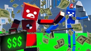 We Forced RAGDOLLS To Rob A Bank And Got Chased By POLICE In Fun With Ragdolls: The Game Update