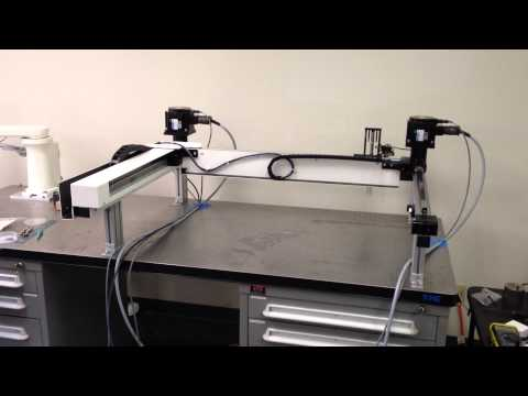 H-Bot doing 80PPM with linear motor Z axis