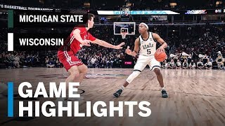 Highlights: Spartans Roll Into Championship Game | Michigan State vs. Wisconsin | March 16, 2019