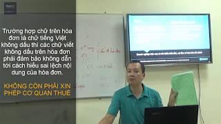 Đăng ký thuế, cấu trúc hóa đơn và kiểm soát hóa đơn trong DN
