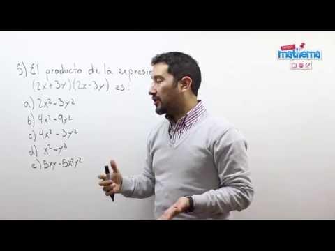 Prueba de algebra 8