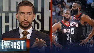 'The Chris Paul and James Harden tension is real' - Nick Wright | NBA | FIRST THINGS FIRST