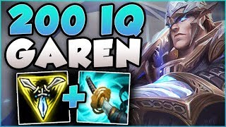 WTF! ONE GAREN Q DID HOW MUCH DAMAGE?? 100% CRIT TRIFORCE GAREN TOP GAMEPLAY! - League of Legends