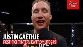 Justin Gaethje sends a message to Khabib after beating Tony Ferguson at UFC 249