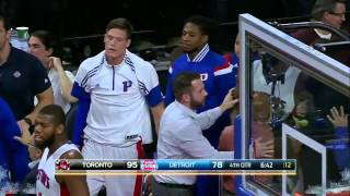 James Johnson & Andre Drummond FIGHT   Raptors vs Pistons   December 19, 2014   NBA 2014 15 Season