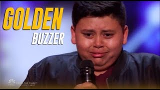 Luke Islam: 12-Year-Old NY Boy Gets Julianne Hough's GOLDEN BUZZER! | America's Got Talent 2019