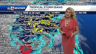 WATCH: Tropical Storm Isais Races Away