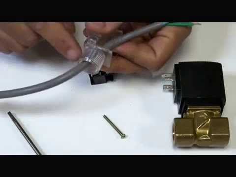 how to wire a din plug for solenoid coil youtube. Black Bedroom Furniture Sets. Home Design Ideas