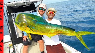 FISHING for MASSIVE RAINBOW MAHI! **Best Way to Catch Fish Offshore in Florida**