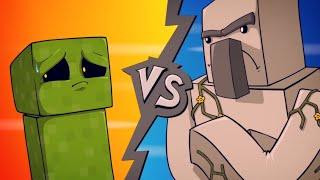 "EPIC MINEQUEST 4   ""Creeper VS Iron Golem"" by Sam Green Media"