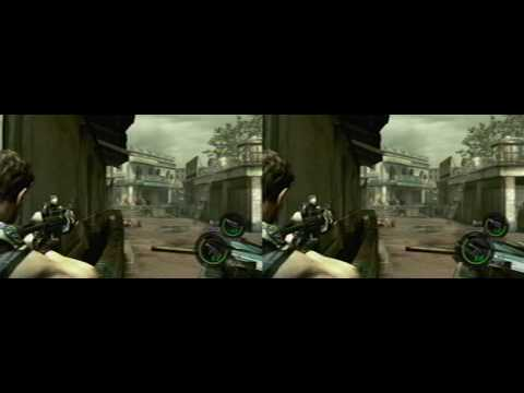 YT3D - Resident Evil 5 - Chapter 2-1 footage (iZ3D driver)