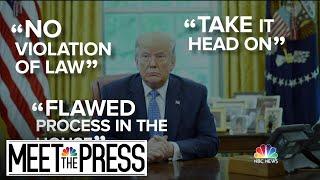 Under Impeachment Pomp, Partisan Rancor Corrodes Congress   Meet The Press   NBC News