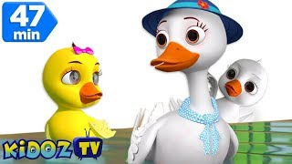 Five little Ducks | Nursery Rhymes For Kids | Cartoon Songs For Children by Kidoz TV