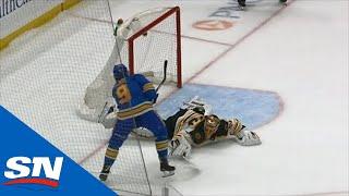 Blues Put Bruins Away In Shootout Lead By Binnington