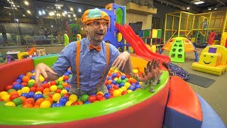 Blippi Learns at the Indoor Playground   Educational Videos for Toddlers