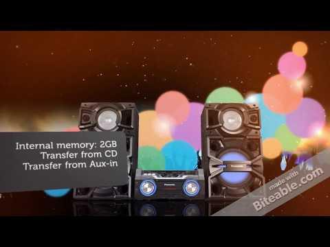 Panasonic SCMAX4000E 2400W Megasound Bluetooth Hi Fi System Black