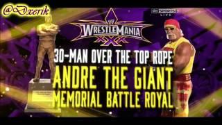 WWE WrestleMania 30 Full Match Card