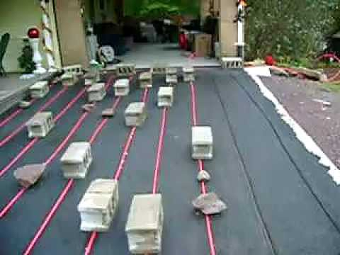 Radiant Heated Blacktop Driveway 1 Of 2 Youtube