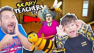 KIZGIN ÖĞRETMENE ARILAR SALDIRDI! BAYILDI! | SCARY TEACHER 3D OYNUYORUZ!