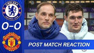 Thomas Tuchel & Andreas Christensen React To Deadlock At The Bridge   Chelsea v Manchester United