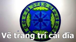 Trang trí đĩa tròn lớp 7_ Trang trí cái đĩa đơn giản_ HOW TO DRAW MANDALA