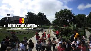 '360 International Student Group Photo (BTS) - Pittsburg State University