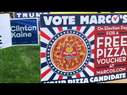 Vote for Marco's Pizza on Election Day for a FREE Medium 1-Topping Pizza.