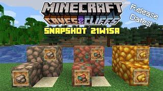 Minecraft: NEW BLOCKS & Release Dates! - 1.17 Snapshot 21w15a