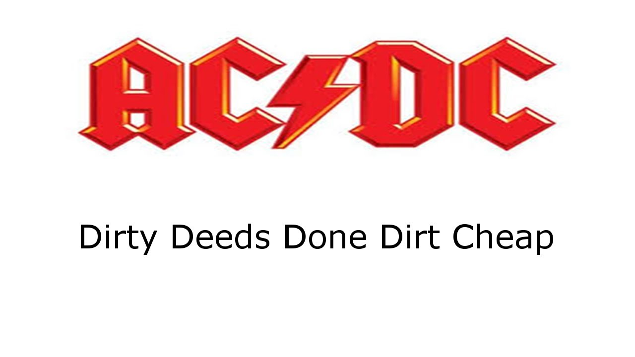 Dirty Deeds Done Dirt Cheap- AC/DC- Drum Cover - YouTube