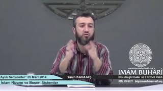 İslam Nizamı ve Beşerî Sistemler-İmam Buhari Vakfı'ndaki Seminerim
