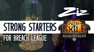 Path of Exile 2.5 - Strong Starters for Breach League