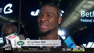 SportsCenter - Adam Gase unsatisfied after Le'Veon Bell unimpressive play, Bills def. Jets 17-16