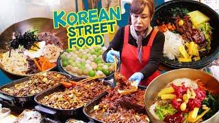 ORIGINAL Bibimbap & KOREAN STREET FOOD Night Market in Jeonju South Korea