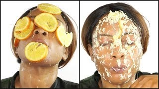 THE MOST FANTASTIC HOMEMADE FACIAL, RICE ORANGE FACIAL MASK |Khichi Beauty