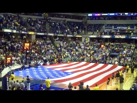 John Popper National Anthem at Indiana Pacers Opening Night