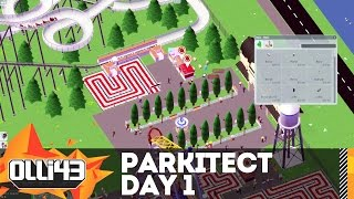 BUILDING THE MOST EPIC THEME PARK! Parkitect Gameplay Day 1