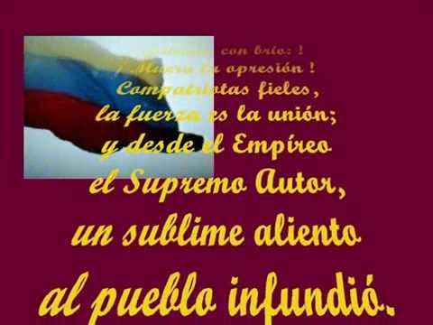 Himno Nacional de la República Bolivarina de Venezuela