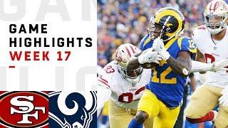 49ers vs. Rams Week 17 Highlights | NFL 2018