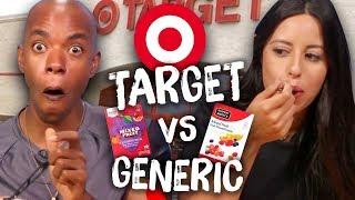 Target Brand vs Generic Food Taste Test (Cheat Day)