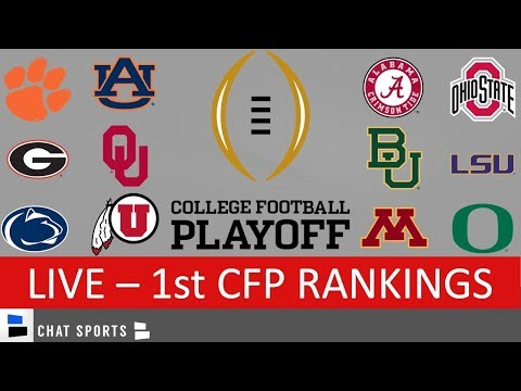 CFP Rankings LIVE – Top 25 Teams In First College Football Playoff Rankings For 2020